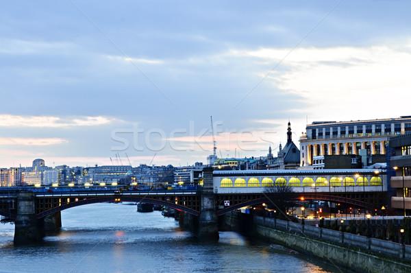 Kilátás Temze folyó London híd városkép Stock fotó © elenaphoto
