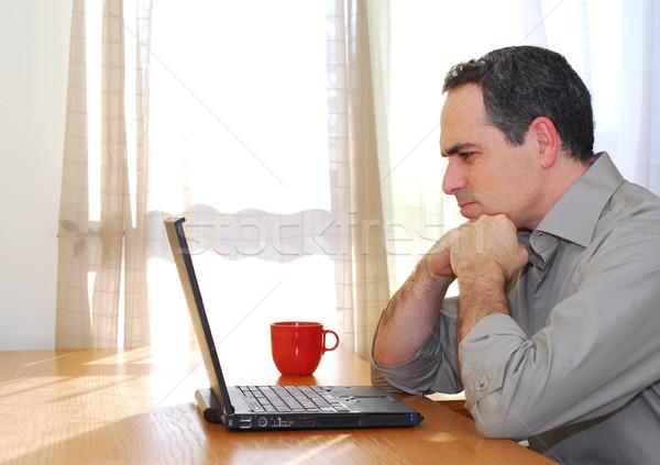 男 ノートパソコン 座って デスク 見える ビジネス ストックフォト © elenaphoto