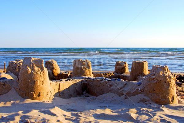 Sand castle Stock photo © elenaphoto