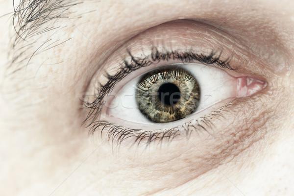 男性 眼 マクロ クローズアップ まぶた ストックフォト © elenaphoto