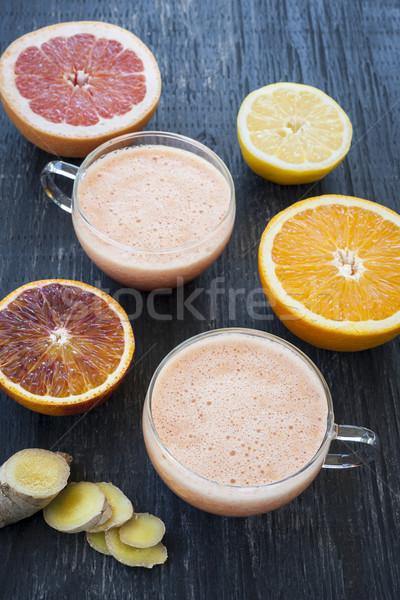 Citrus smoothies Stock photo © elenaphoto