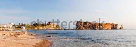 рок полуостров пляж океана панорамный мнение Сток-фото © elenaphoto