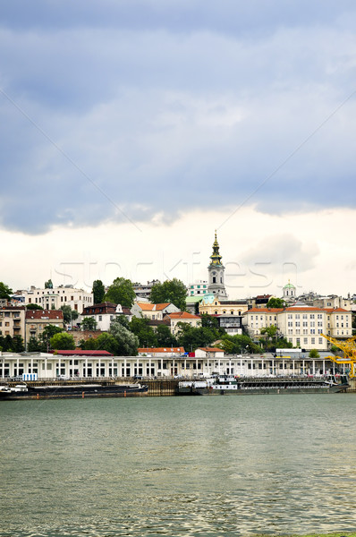 Belgrade cityscape on Danube Stock photo © elenaphoto