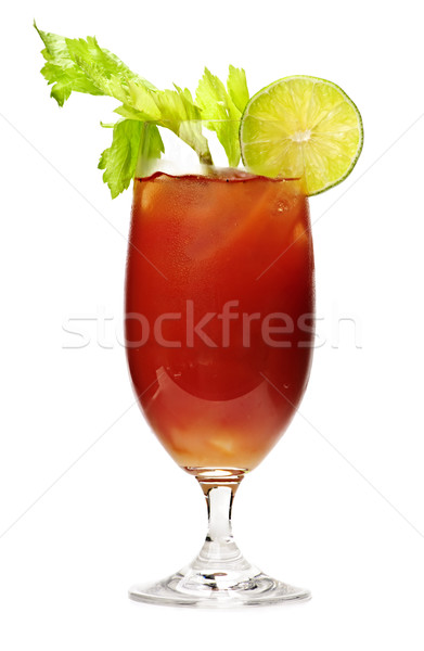 Véres ital üveg izolált fehér zeller Stock fotó © elenaphoto