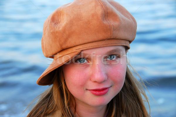 Girl child hat Stock photo © elenaphoto