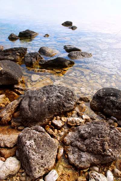 Rocks in clear water Stock photo © elenaphoto