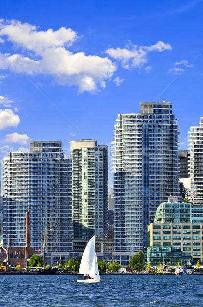 Vela Toronto puerto velero puerto escénico Foto stock © elenaphoto