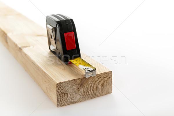 Centymetrem drewna metal metryczny dwa Zdjęcia stock © elenaphoto