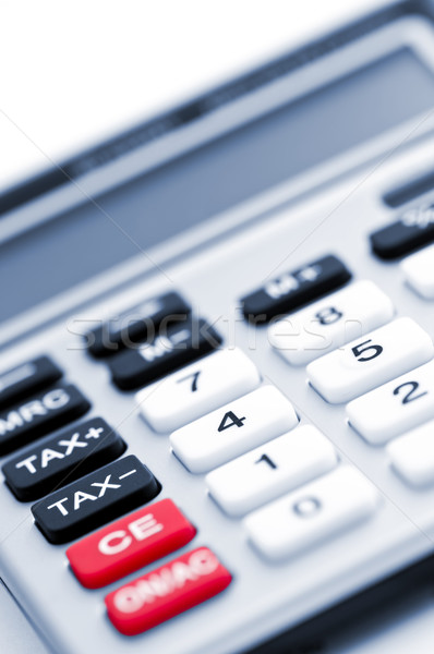 Stock photo: Tax calculator keypad