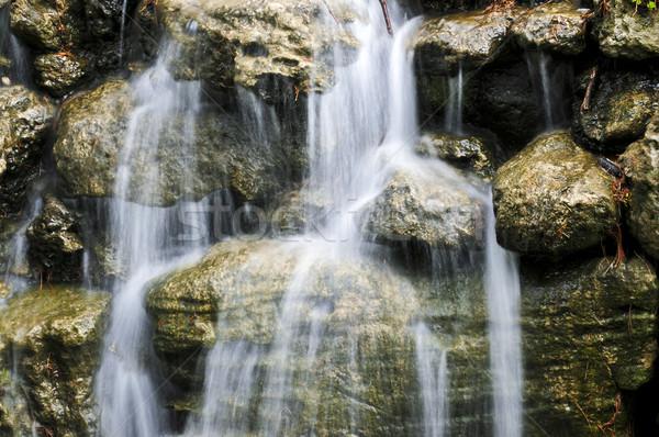 Stock photo: Waterfall over stones