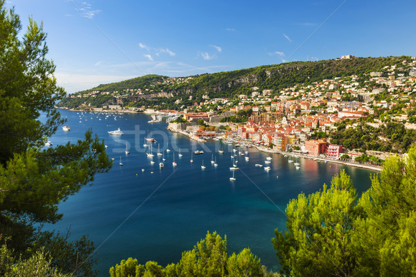 Villefranche-sur-Mer and Cap de Nice on French Riviera Stock photo © elenaphoto