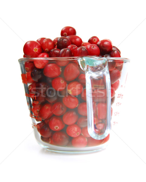 Cranberries in a cup Stock photo © elenaphoto