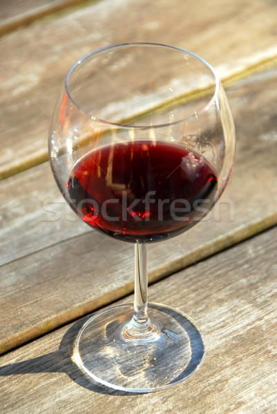 Glass of red wine Stock photo © elenaphoto