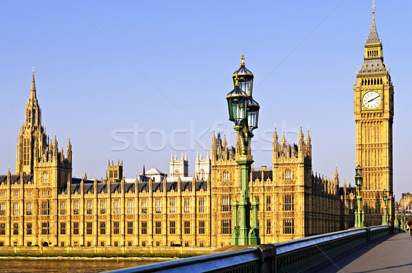 Palace of Westminster from bridge Stock photo © elenaphoto