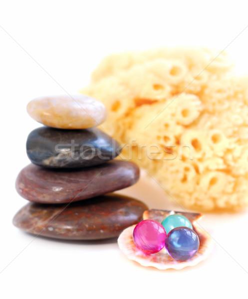 Spa equilibrata pietre bagno perline Foto d'archivio © elenaphoto