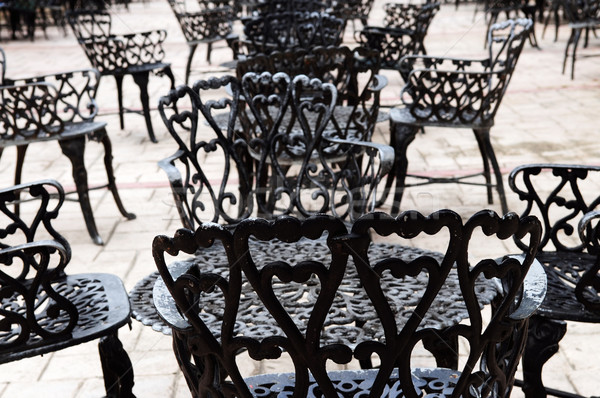 Wrought iron furniture  Stock photo © elenaphoto