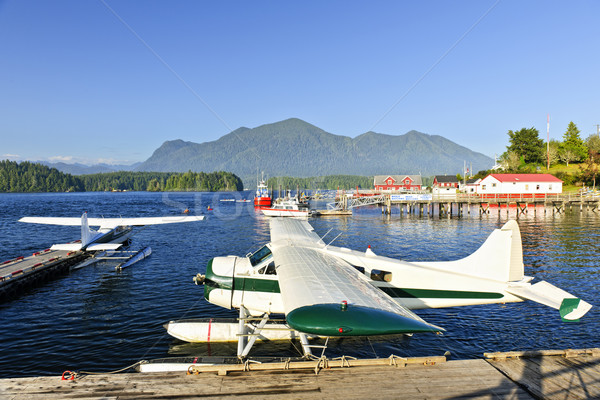 Sea planes at dock in Tofino, Vancouver Island, Canada Stock photo © elenaphoto