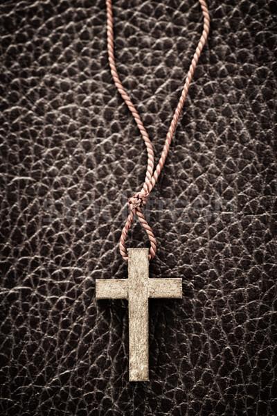 Christian Cross on Bible Stock photo © elenaphoto