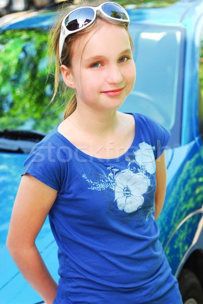 Smiling girl Stock photo © elenaphoto