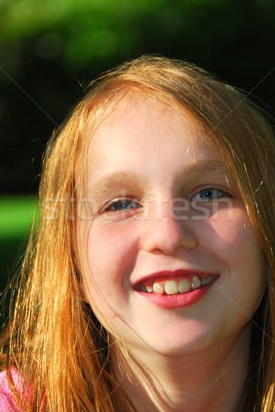Girl portrait Stock photo © elenaphoto