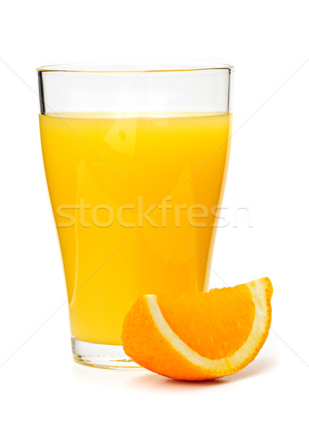 Orange juice in glass Stock photo © elenaphoto