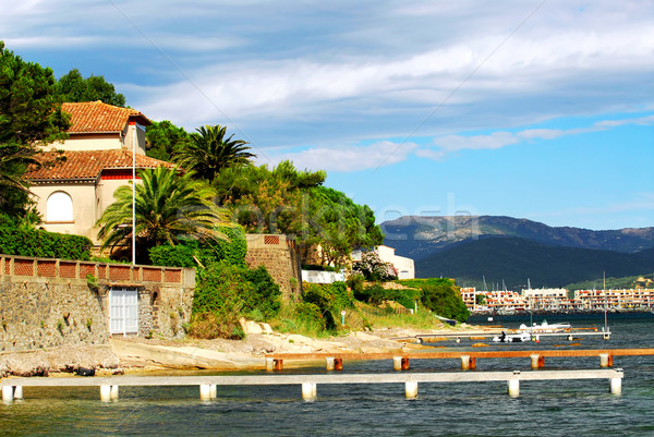 Mediterranean coast of French Riviera Stock photo © elenaphoto
