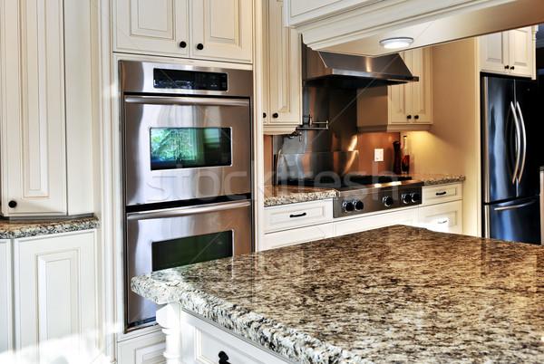 Сток-фото: интерьер · кухни · интерьер · современных · роскошь · кухне · нержавеющая · сталь