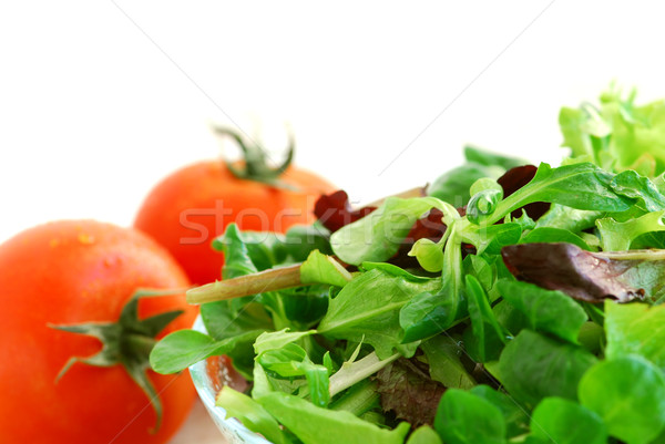 Baby greens and tomatoes Stock photo © elenaphoto