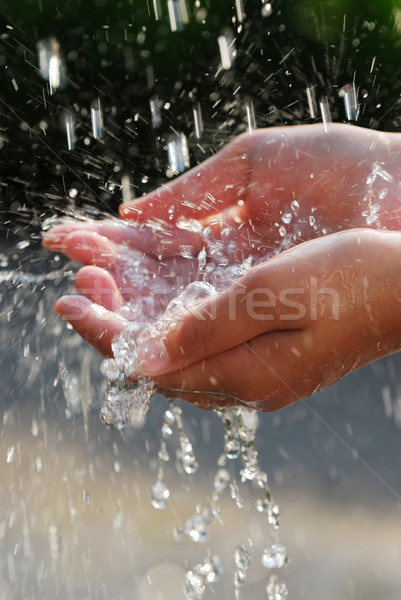 Hands and water Stock photo © elenaphoto