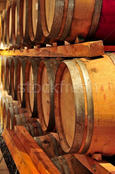 Wine barrels Stock photo © elenaphoto