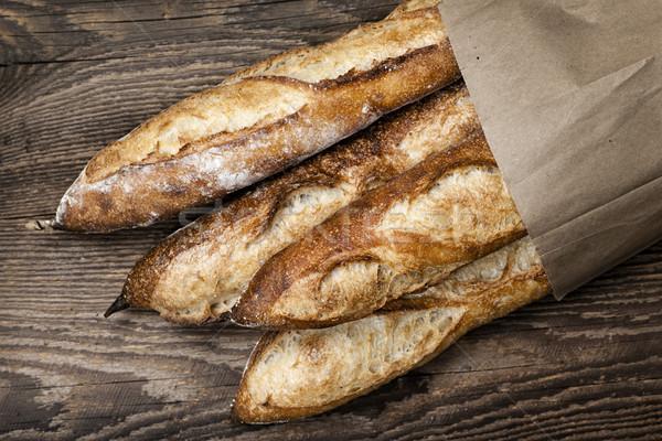 Сток-фото: багеты · хлеб · четыре · багет