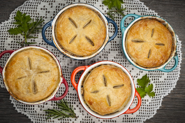 Homemade meat pies Stock photo © elenaphoto