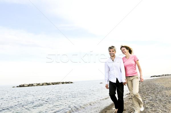 Happy mature couple Stock photo © elenaphoto