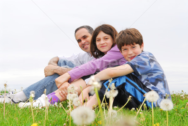 Happy family Stock photo © elenaphoto