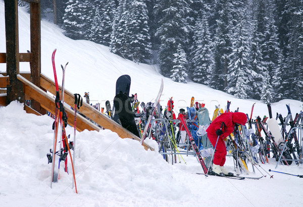 Downhill skiing Stock photo © elenaphoto