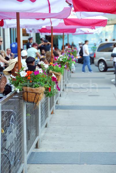 Sidewalk cafe Stock photo © elenaphoto