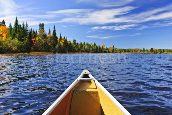 каноэ лук озеро два Реки Онтарио Сток-фото © elenaphoto