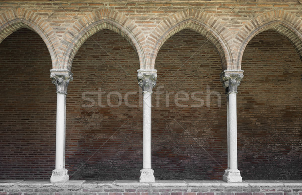 Cloister with arched colonnade Stock photo © elenaphoto