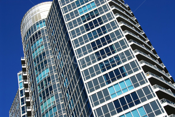 Modern épület építészeti absztrakt darab ház Stock fotó © elenaphoto