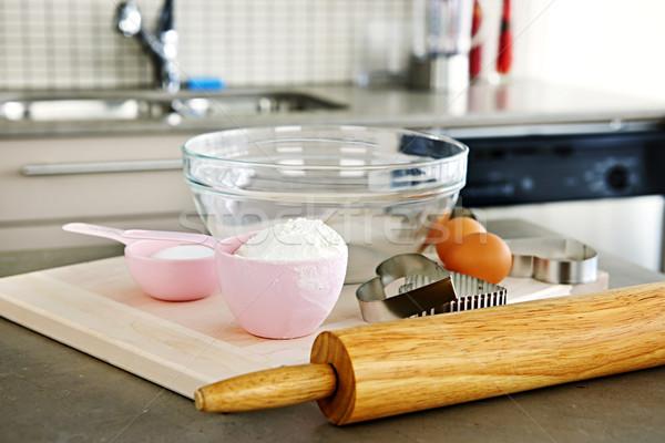 Baking cookies Stock photo © elenaphoto
