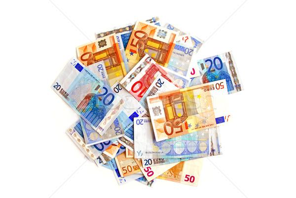 Euro pile Stock photo © elenaphoto