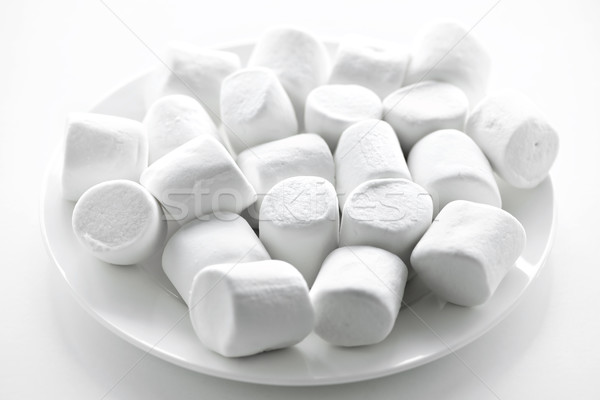 Marshmallows on plate Stock photo © elenaphoto