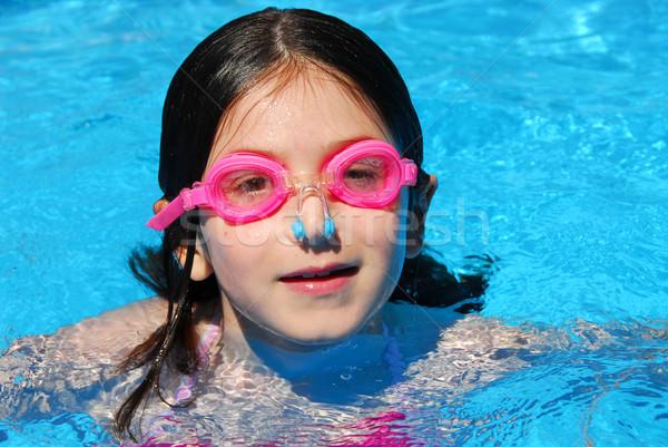 Child swimming pool Stock photo © elenaphoto