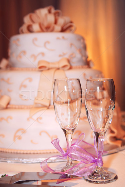 Wedding cake Stock photo © elenaphoto