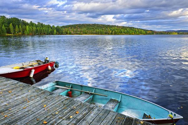 Meer schemering twee rivieren park ontario Stockfoto © elenaphoto