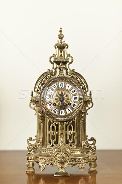 Antique clock Stock photo © elenaphoto