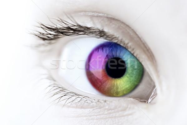 Сток-фото: радуга · глаза · женщины · Iris