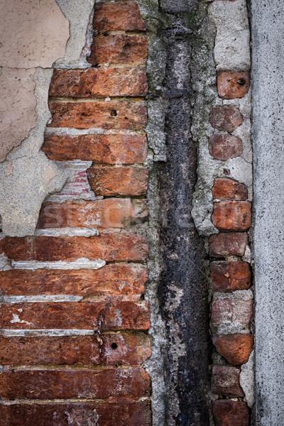 Old brick wall fragment Stock photo © elenaphoto