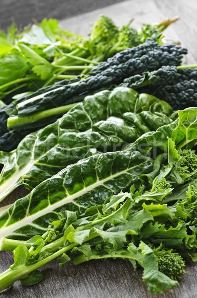 Dark green leafy vegetables Stock photo © elenaphoto