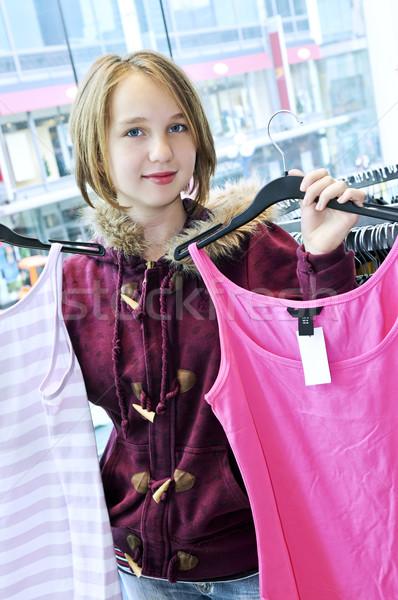 Stock photo: Teenage girl shopping